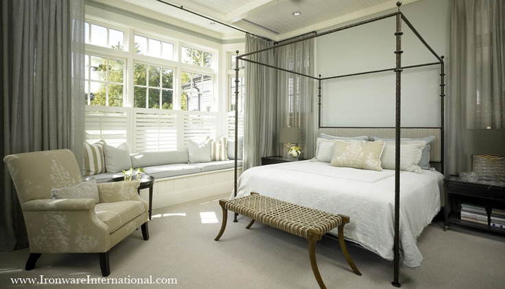 Stunning iron bed by ironware international for International bedroom designs