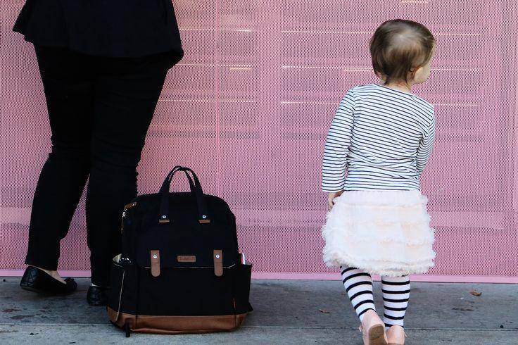 The Robyn | convertible black diaper backpack | gender neutral diaper bag