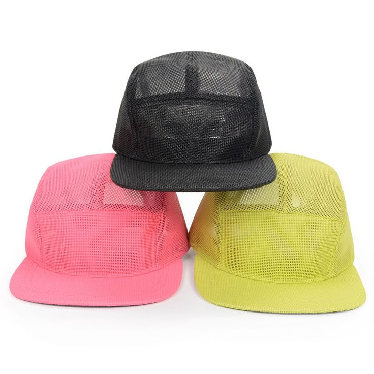 Men Women Pure 5 Panel Hip Hop Hat Mesh Snapback Baseball Cap Adjustable Goldtop #Goldtop #BaseballCap