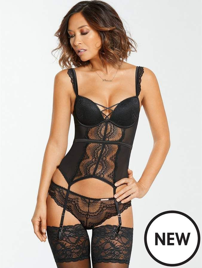 52b9a9c6d Myleene Klass Lace Up Basque #affiliate #valentines #fun #sexy #lingerie