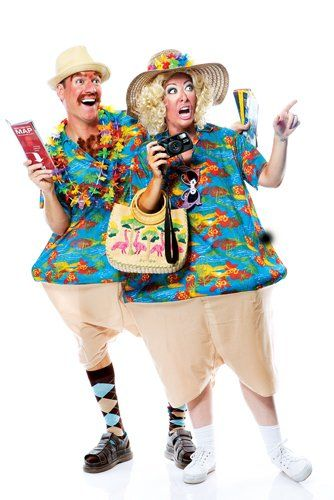 Couples Tacky Traveler Costumes lol this is great
