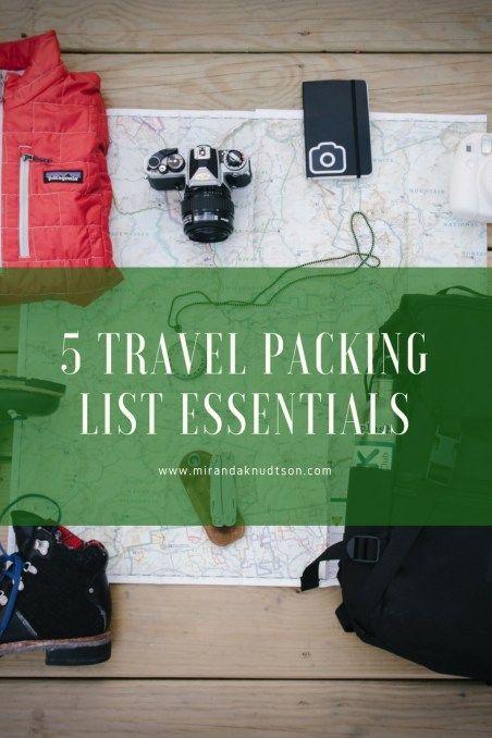 5 Travel Packing List Essentials