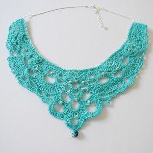Crochet Chandelier Necklace