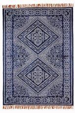 Ellos Home Santa Ana -matto 140x200 cm Sininen - Puuvilla- ja räsymatot   Ellos Mobile