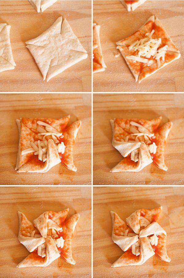 Los molinetes de pizza son una receta fácil. Te enseñamos a hacer molinetes de pizza, una manera divertida y original de presentar la pizza de toda la vida.