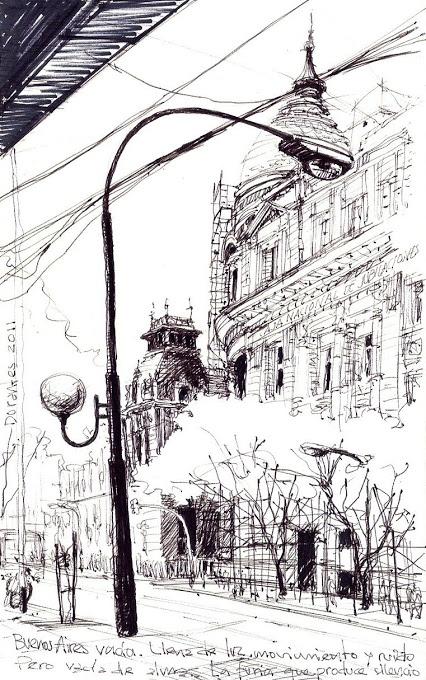 ✤ Autor Norberto Dorantes, Buenos Aires vacío.