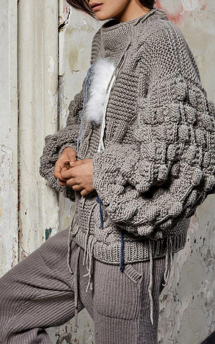 Cashmere Fur Details Knit by Tuinch | Moda Operandi