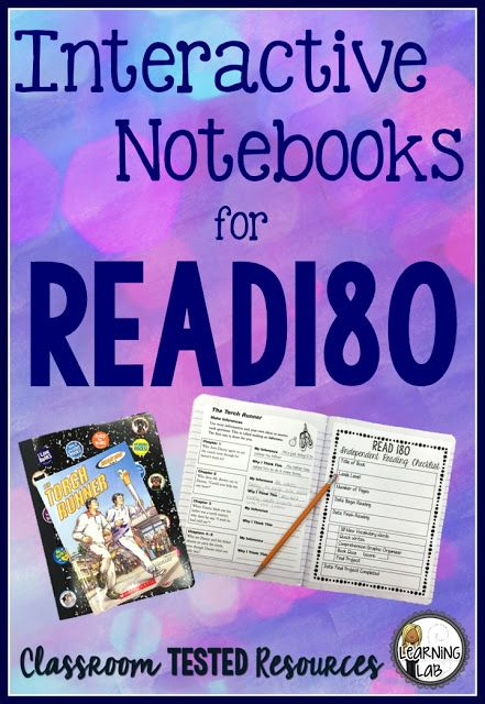 How to organize independent work for Read180 using this FREE interactive notebook template.  BLOG POST {FREEBIE}