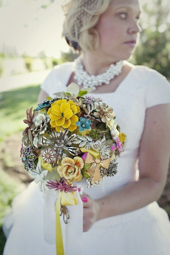 Vintage Brooch Bouquet By Bridal Bouquets Onewedding