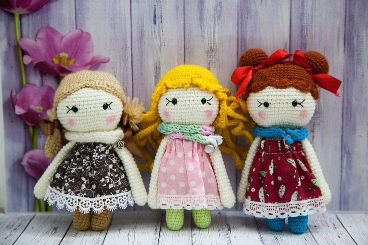 Crochet these dolls using our free pattern!