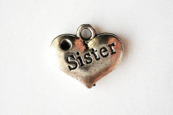 Sister Charm - Antique Silver $0.39CAD #craftdeville #sister #charm