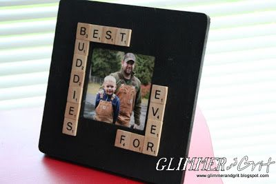 Glimmer And Grit: $1 Wood Frame Easy DIY Fathers Day Gift