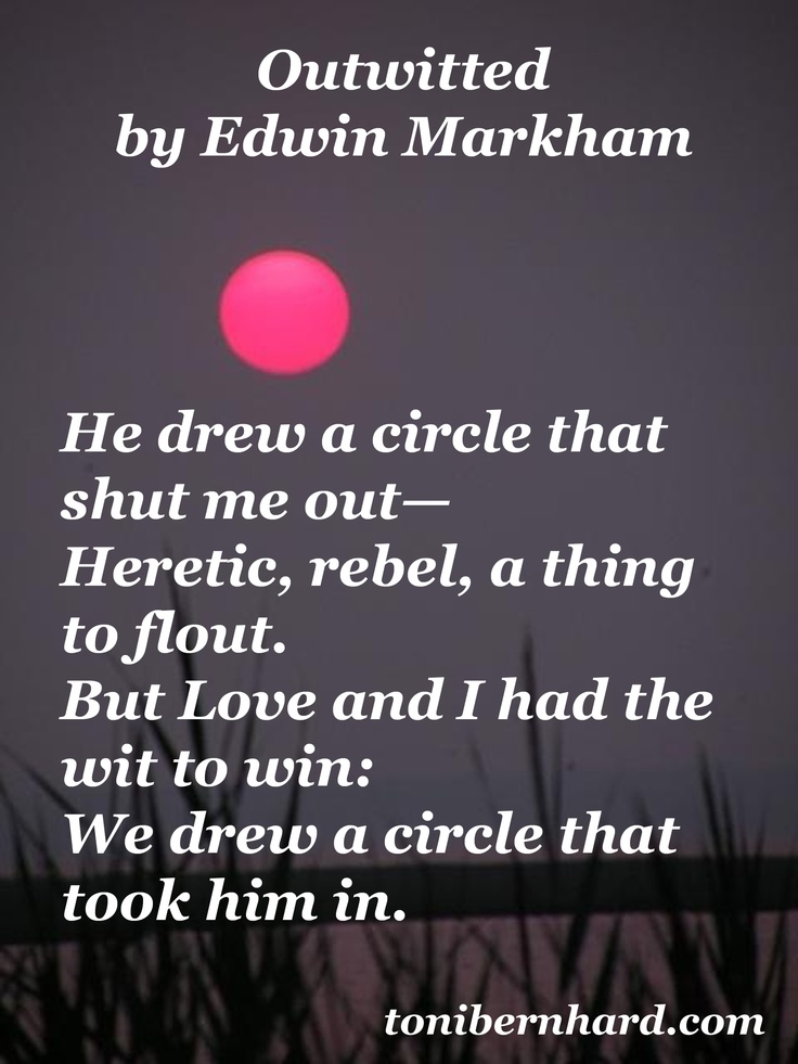 """""""Outwitted"""" by Edwin Markham"""