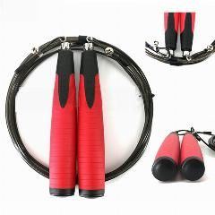 [ 25% OFF ] Brand New Professional Ball Bearing Adjustable Jump Rope Weighted Crossfit Speed Rope School Test Skipping Rope Fitness Training