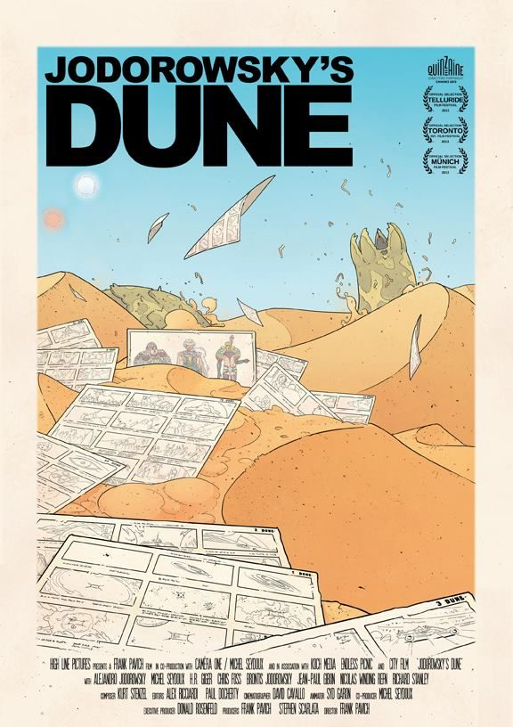 Jodorowsky's Dune (2013) - Shot in France, England, Switzerland and the United States, this documentary covers director Alejandro Jodorowsky (El Topo, Holy Mountain, Santa Sangre) and his 1974 Quixotic attempt to adapt the seminal sci-fi novel Dune into a feature film.
