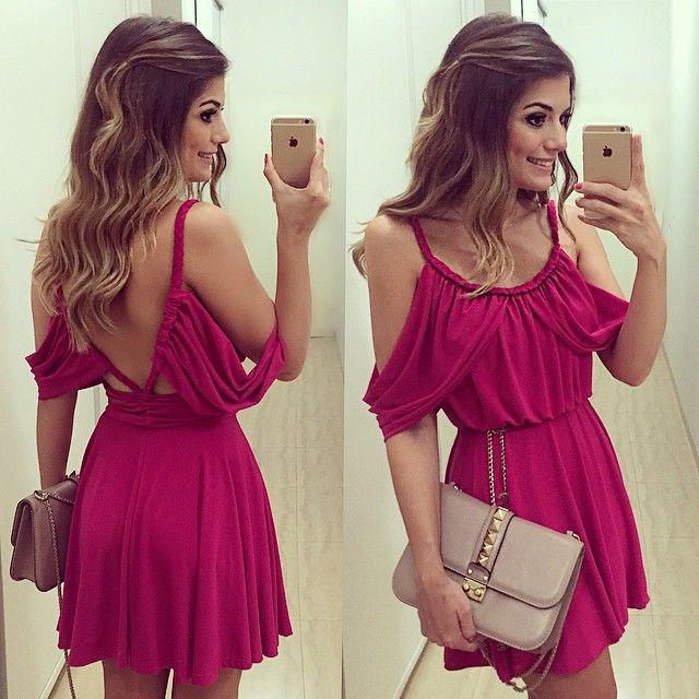 {Pink again} Vestido @lemisonline  (disponível para compra no site da loja meninas) | #lookdodia #dehoje #lookoftheday…