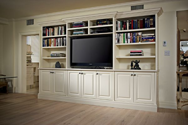 25 best ideas about white entertainment centers on for Built in wall units