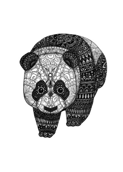 panda. animals series https://www.behance.net/eivanafer51df