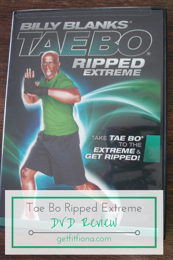 Tae Bo Ripped Extreme DVD Review Billy Blanks kickboxing weights kicks punches jumps choreography workout sweating choreography