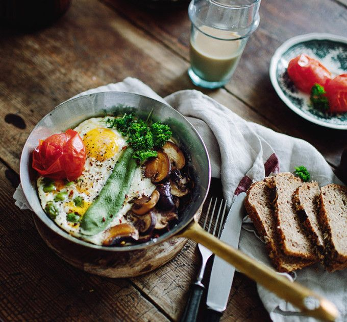 The best baked eggs, made with ingredients from your refrigerator.