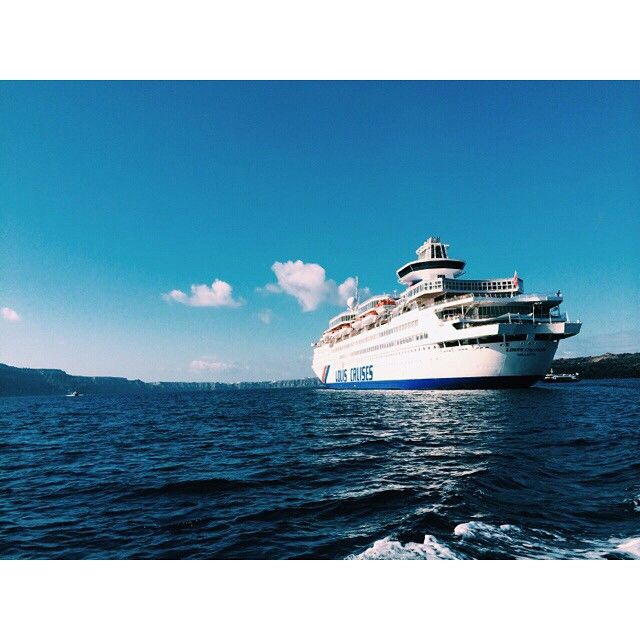 "Seeking for an ""once in a lifetime"" holiday? We invite you and your family to travel the Aegean with her. Louis Olympia will amaze you! #LouisCruises #cruise #Greece Photo credits: http://instagram.com/pratitafeb"