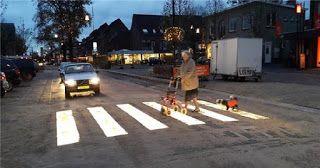 Pregopontocom Tudo: Holanda testa faixa de pedestres luminosa