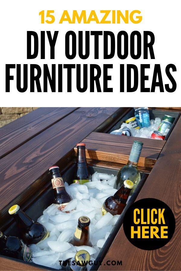 15 Amazing Diy Outdoor Furniture Ideas Diy Outdoor Furniture