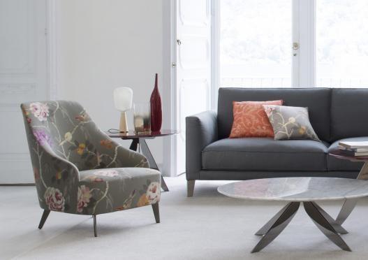 Petit fauteuil moderne Emilia
