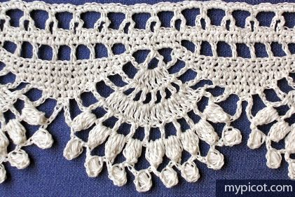 Crochet Shell Popcorn Edging Tutorial - (mypicot)