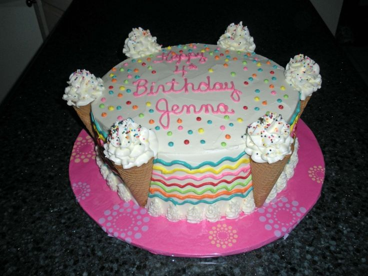 1000+ images about ice cream cone cakes on Pinterest ...