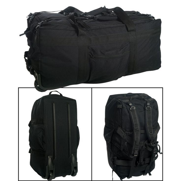 Mil-Tec-Large-Wheeled-Travel-Bag-100L-Black