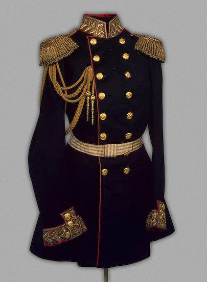 Tsar Alexander II's uniform with the rank of General, circa 1855