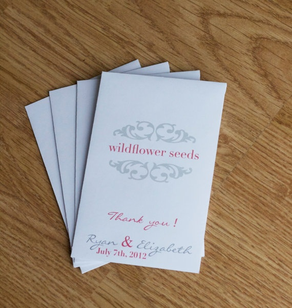 Flower Seed Favor Envelopes   Wedding or by LilahClaire on Etsy, $75.00