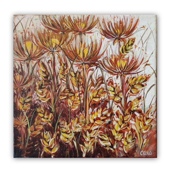 Joie   Small Original Painting 8x 8 by UntouchedNature on Etsy