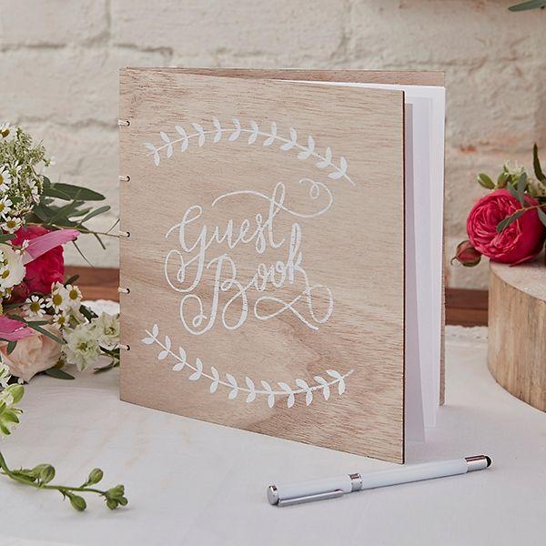 Gästebuch aus Holz Vintage für die Hochzeit. Guest Book for the wedding in a Vintage Look.