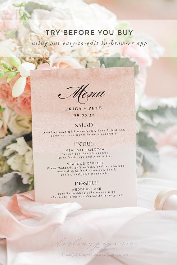 printable wedding place cards vintage%0A Printable Wedding Menu Template  Wedding Menu Printable  Wedding Menu Cards   Wedding Menus