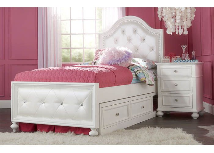 2830 Madison - Complete Upholstered Bed - Twin With Underbed Storage Drawer