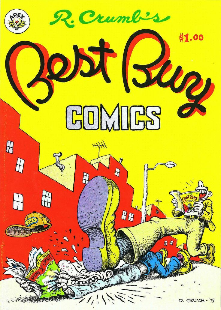 Classic cover by Robert Crumb from Best Buy Comics, published by Apex Novelties, February 1979.