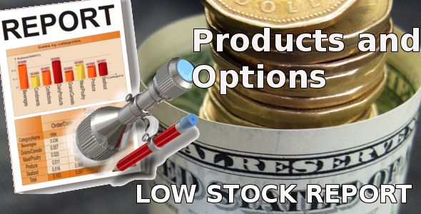 Low Stock Report for Opencart . Great solution to be always update about your