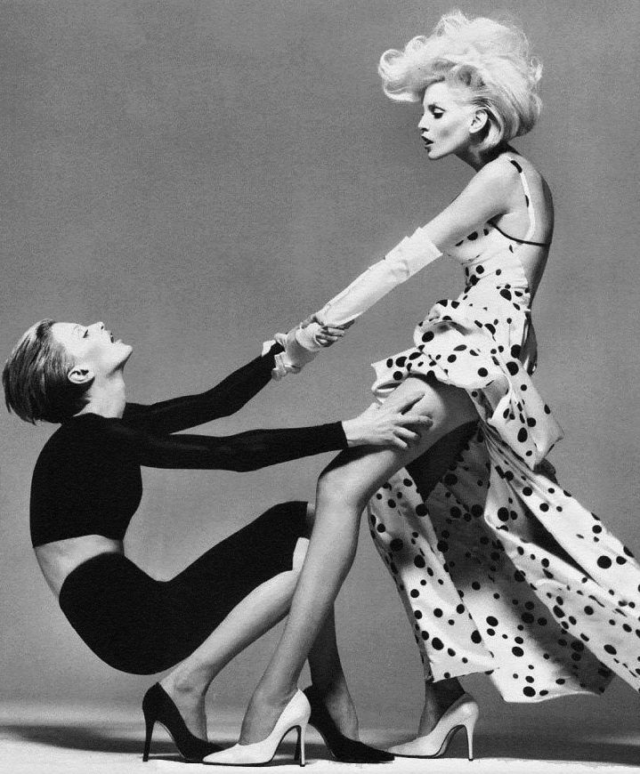 Kristen McMenamy & Nadja Auermann by Richard Avedon - Versace Campaign Spring 1995.