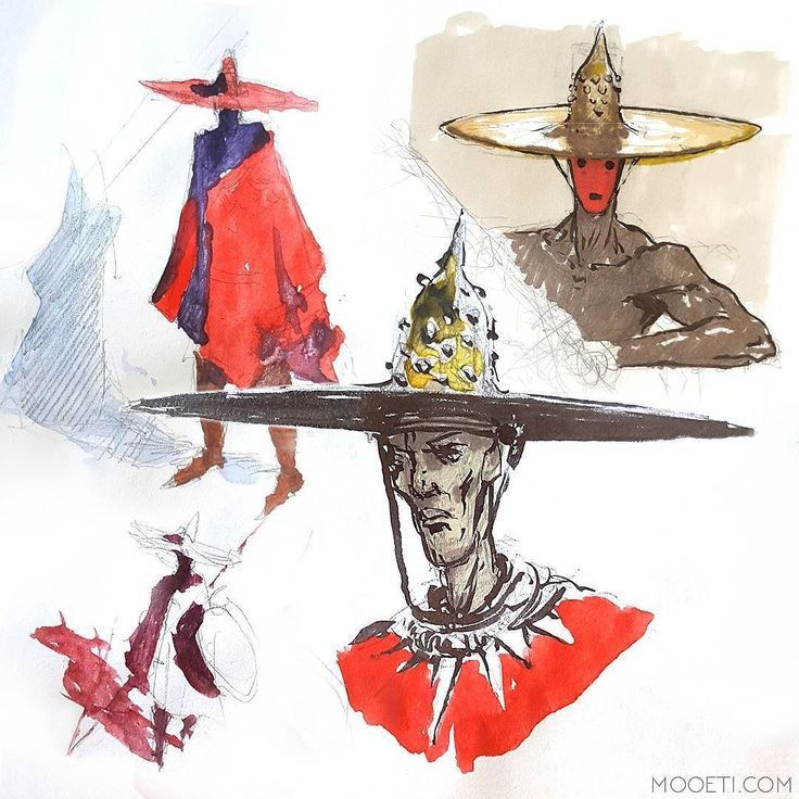 Some sketches. . . . . .  #Mooeti #sketch #doodles #characterdesign #watercolour #hat #instaart #sketches