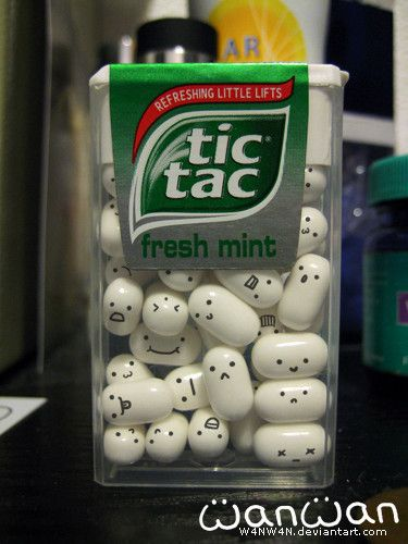 tic tacs with faces. ahh theyre trapped! help them!