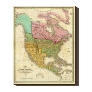 Geo N America 1826 18x22 Map now featured on Fab.1826 18X22, 1826 Maps, 18X22 Maps, North America, Fab Com, Historical Maps, America 1826, Giclé Canvas, Canvas Historical