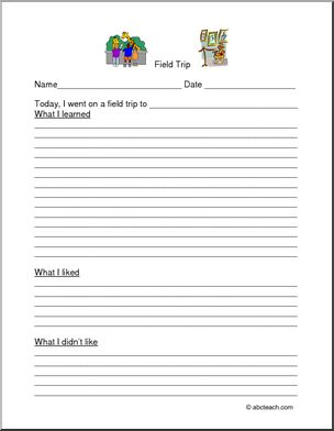 how do i write a field trip report Field trips printable parent resources i abcteach provides what do you see from your draw and write report form for following a field trip to a science or.