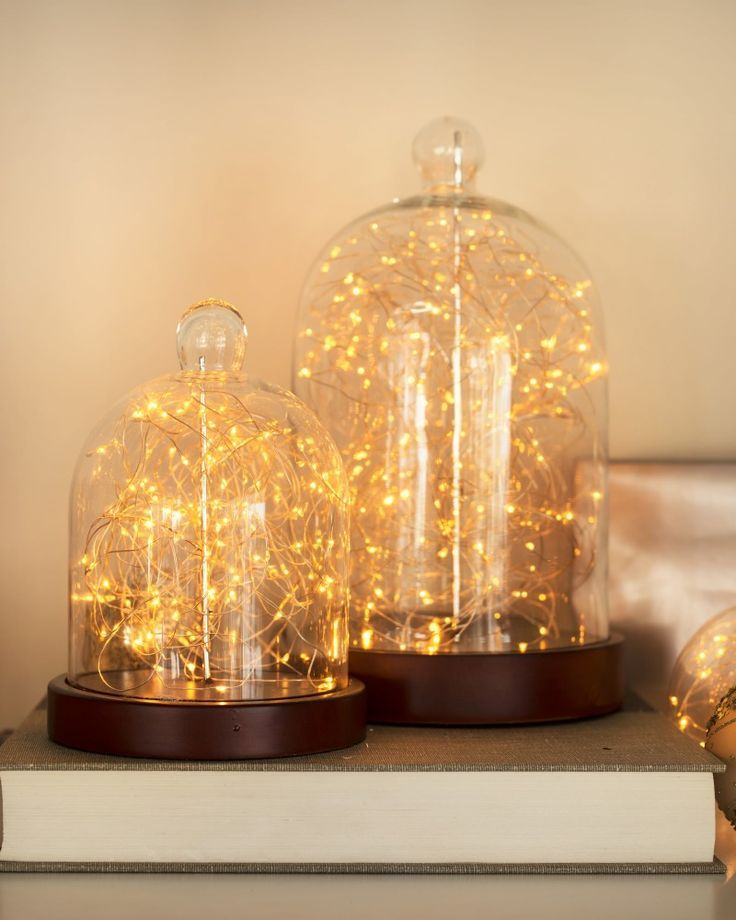 Factory Direct Sales Glass Cloche Glass Bell Jar With String Lights Led - Buy Cloche Glass With ...