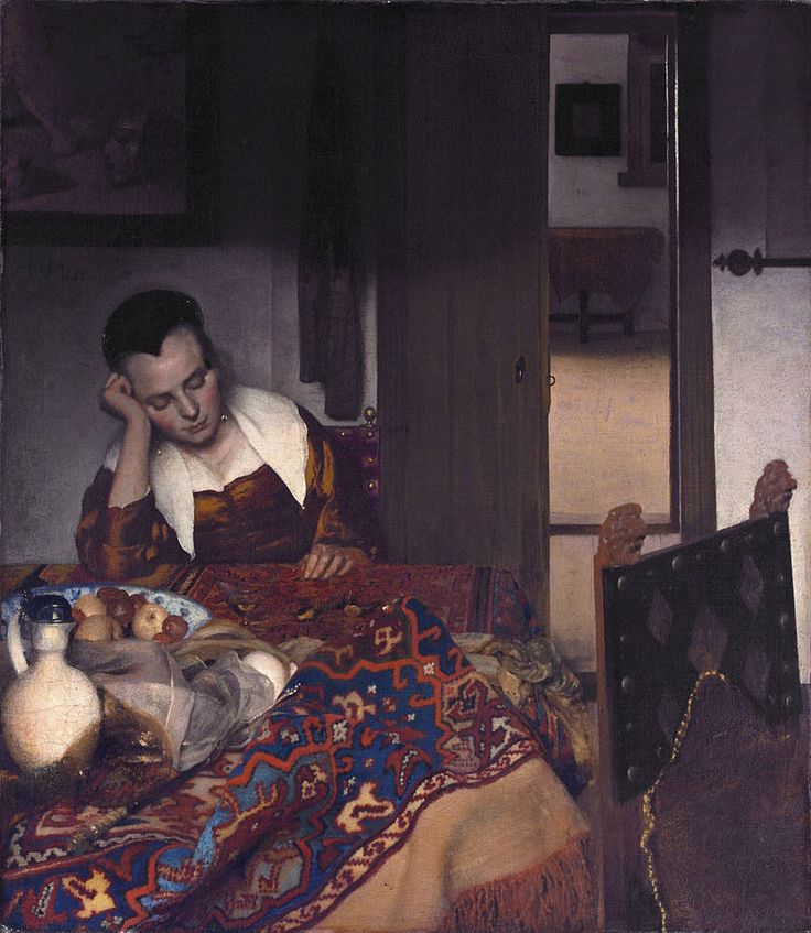 http://izbrannoe.com/news/iskusstvo/vse-izvestnye-kartiny-yana-vermeera/ «Спящая девушка» (Метроплитен-музей)