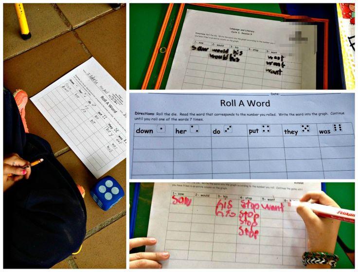 word work ideas- roll a word