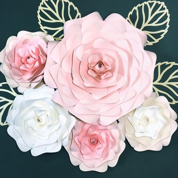 Paper Wall Flowers Nursery Wall Decor Nursery 3d Wall Art Pink