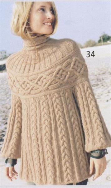 Вязаный свитер шамони