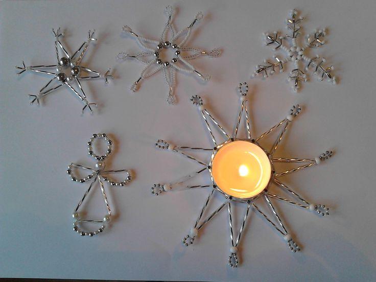 Vánoční ozdoby sada 5ks se svícnem